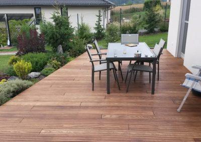 Stavba dřevěné terasy